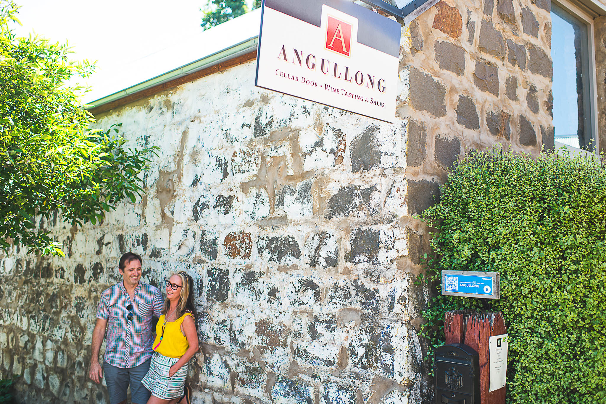 The Angullong bluestone cellar door was once the stables belonging to the next door pub
