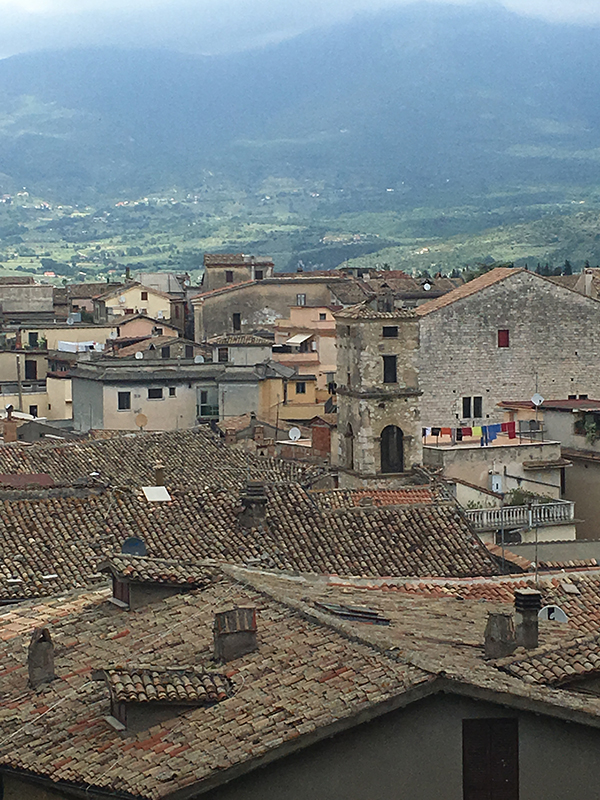 View over modern Alatri