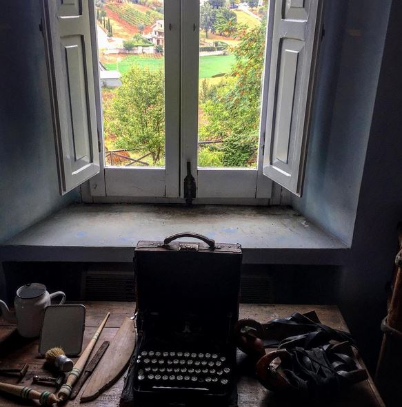 A room with a view - DH Lawrence's writing desk in his villa in Picinisco