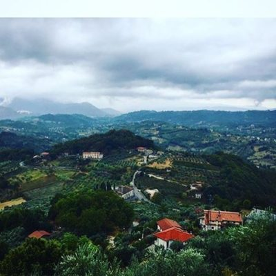 View over Picinisco, in the food and wine region of Ciociaria, Italy